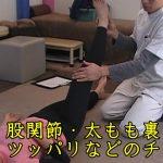 股関節・太もも裏・腰のツッパリなどのチェック