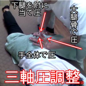 股関節の三軸圧調整