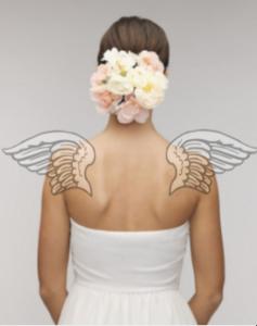 天使の羽肩甲骨