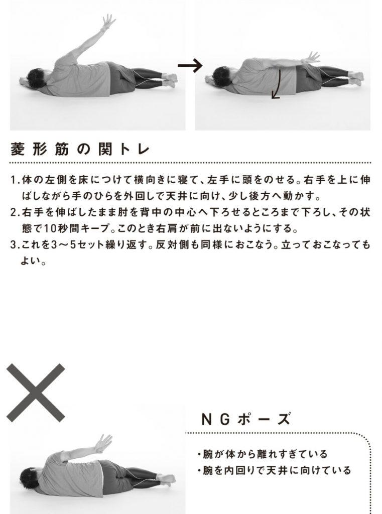 菱形筋の関節トレーニング