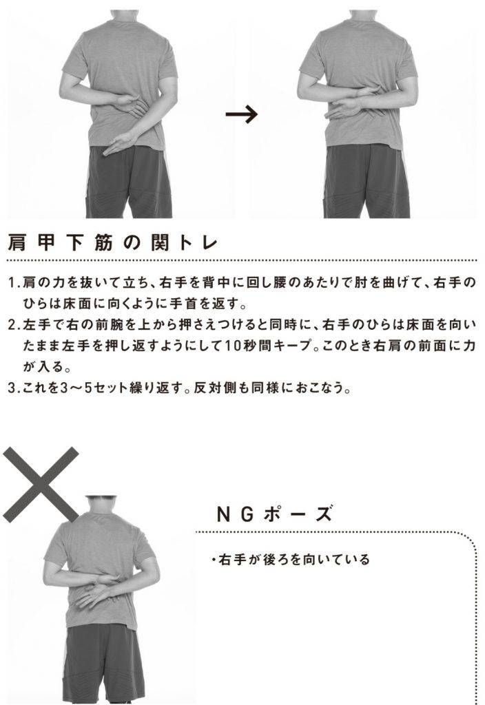肩甲下筋の関節トレーニング