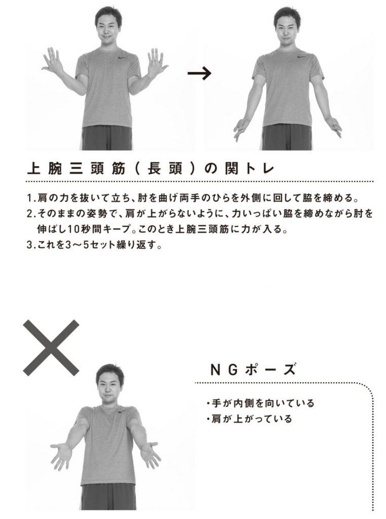 上腕三頭筋の関節トレーニング