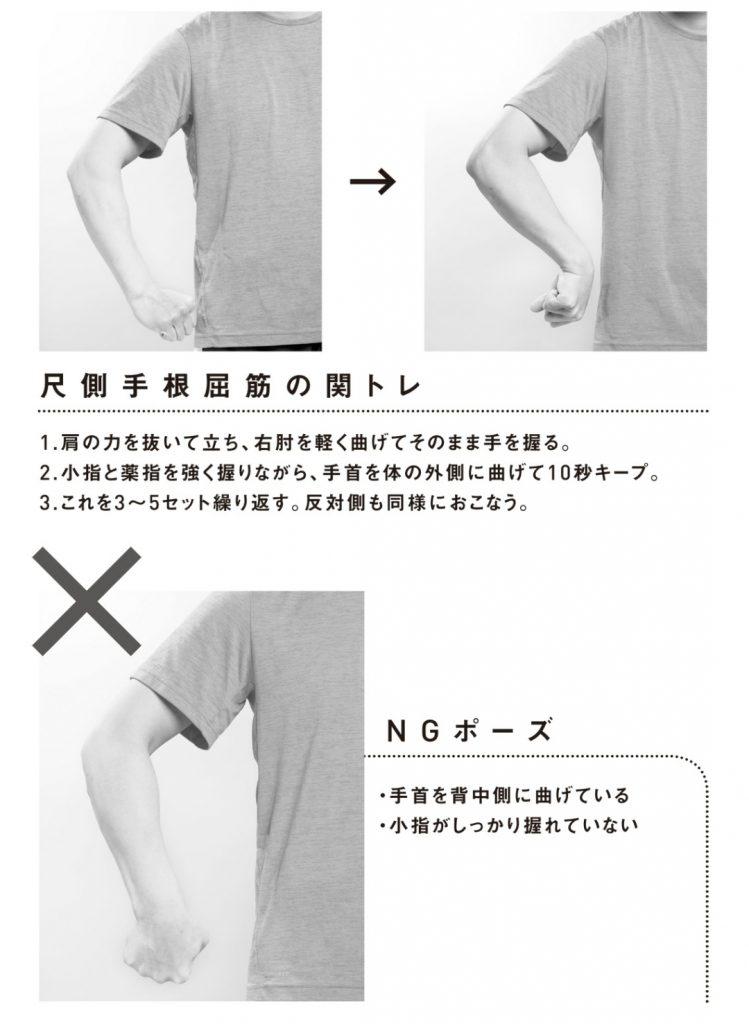 尺骨手根屈筋の関節トレーニング